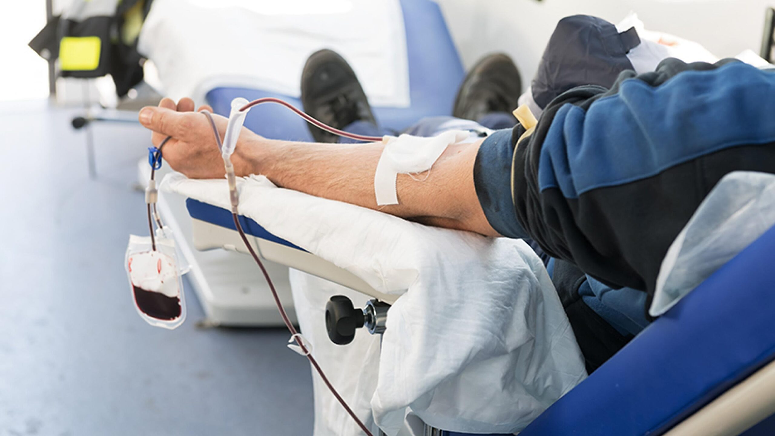 Photo of a patient receiving plasma