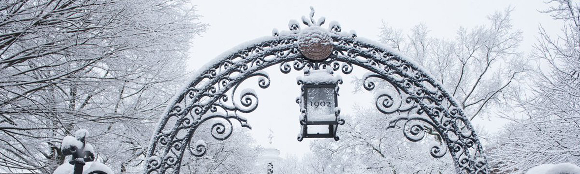 New Brunswick gate in snow