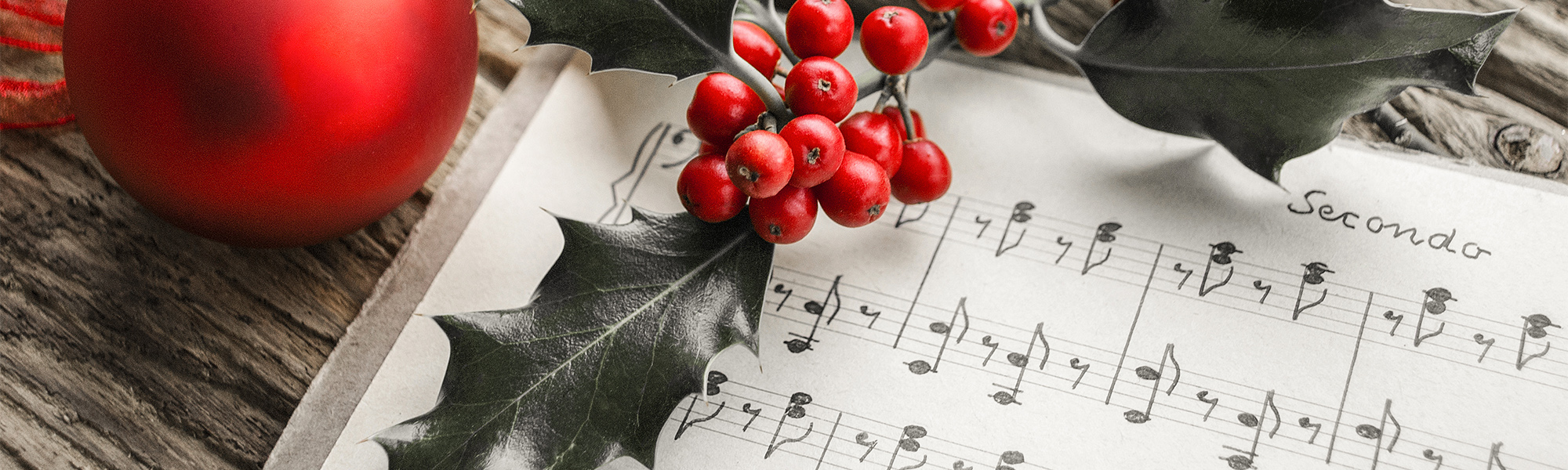 holly on a sheet music