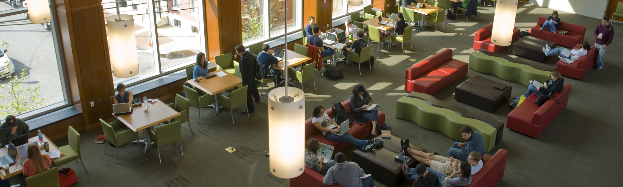 Camden law school campus student lounge