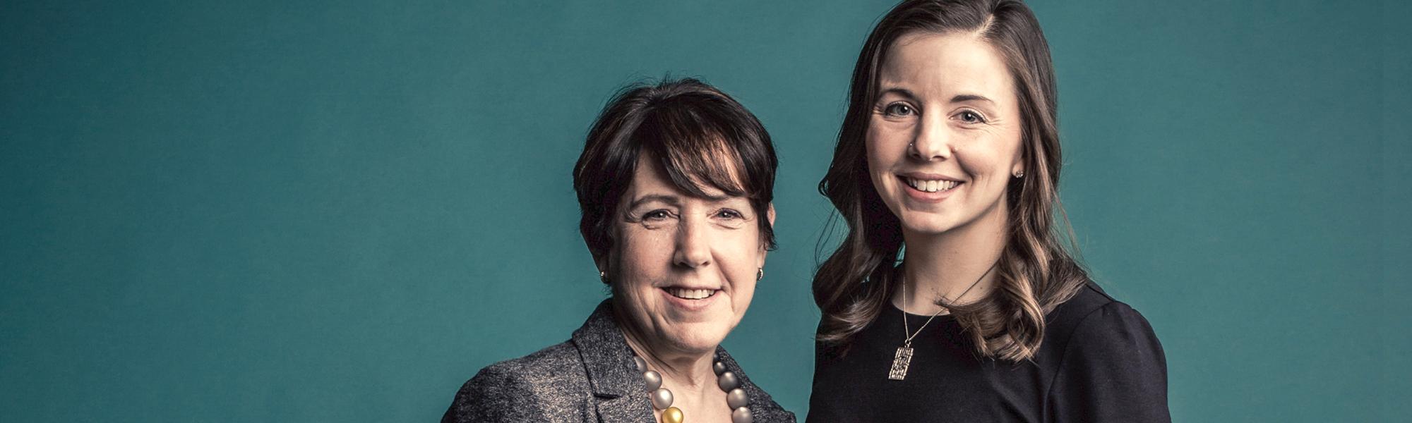 Debbie Walsh (left) and Kelly Dittmar