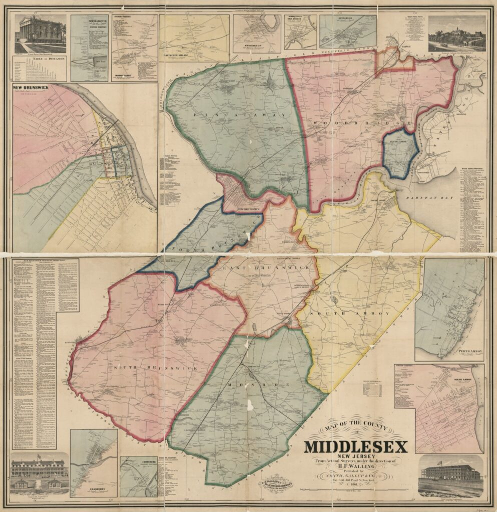 Old map of middlesex New Jersey