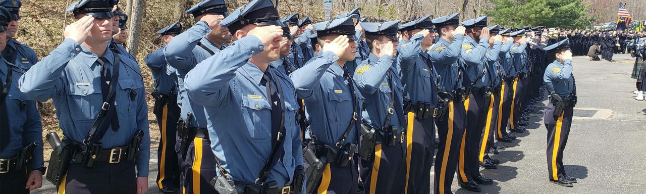 new jersey police in formation