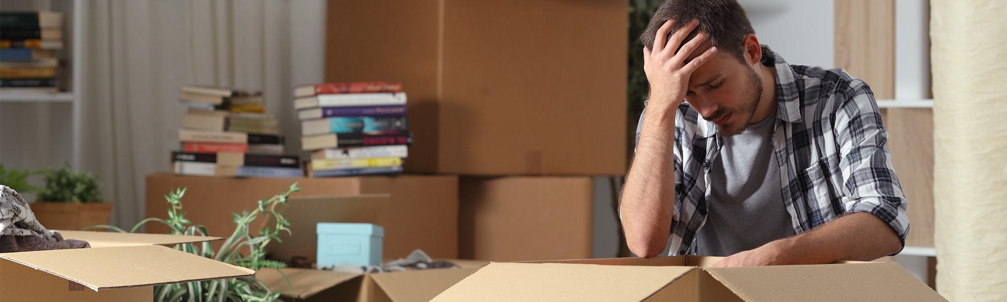 man facing eviction